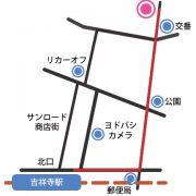 ふだんきもの杏事務所への行き方(ルートA)