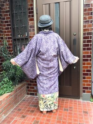 初詣の着物コーデはブラウス洋風Mixで