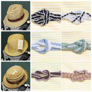6/24新しい商品アップしました!夏の帽子と帯締めです。