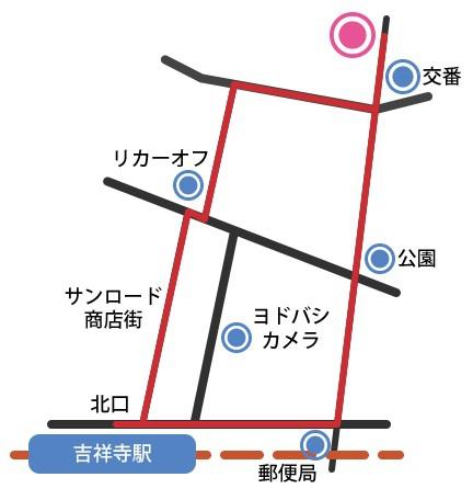 ふだんきもの杏 吉祥寺店舗アクセス