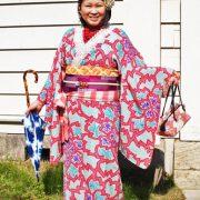 アンティークの着物で小金井公園、江戸東京たてもの園へ