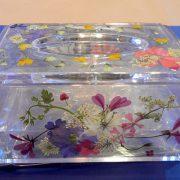 「スパティオ小淵沢」で押し花&ガラス絵付け体験♪